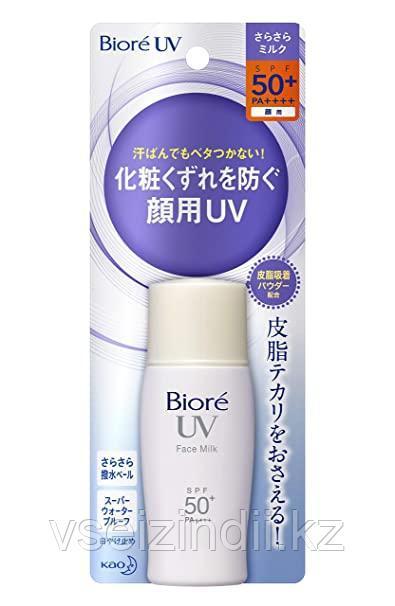 Солнцезащитное молочко Biore UV Face Milk SPF 50+ белый