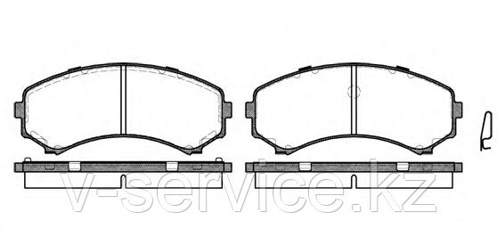 Тормозные колодки KEBO CD-6085 (G-209)(396.00)