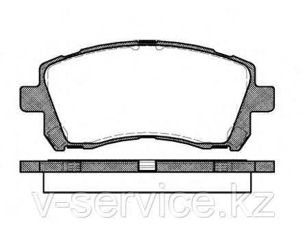 Тормозные колодки KEBO CD-7036 (G-206)(655 02)