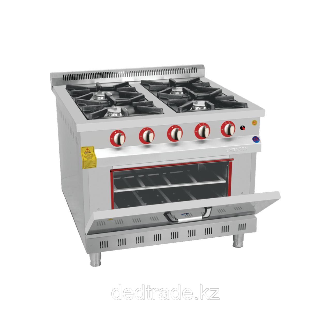 Промышленная газовая плита 4-х конф.с духовкой
