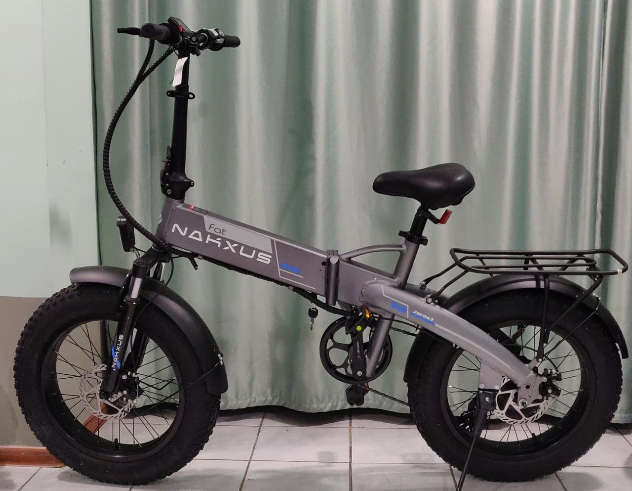 """48v 350w, аккум. Li-ion 48v 10 A/H. Электровелосипед складной. Колеса 20*4""""."""