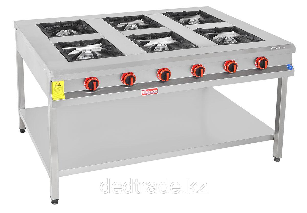 Промышленная газовая плита 6-ти конф. без духовки