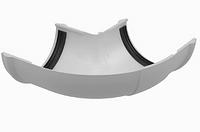 Угол регулируемый 90-150° VERAT Белый Ø120