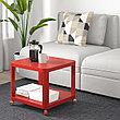 ТИНГБИ Стол приставной на колесиках, белый, (красный, серый) 50x50 см, фото 3