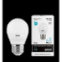 Лампа Gauss LED Elementary Globe 8W E27 4100K 1/10/50