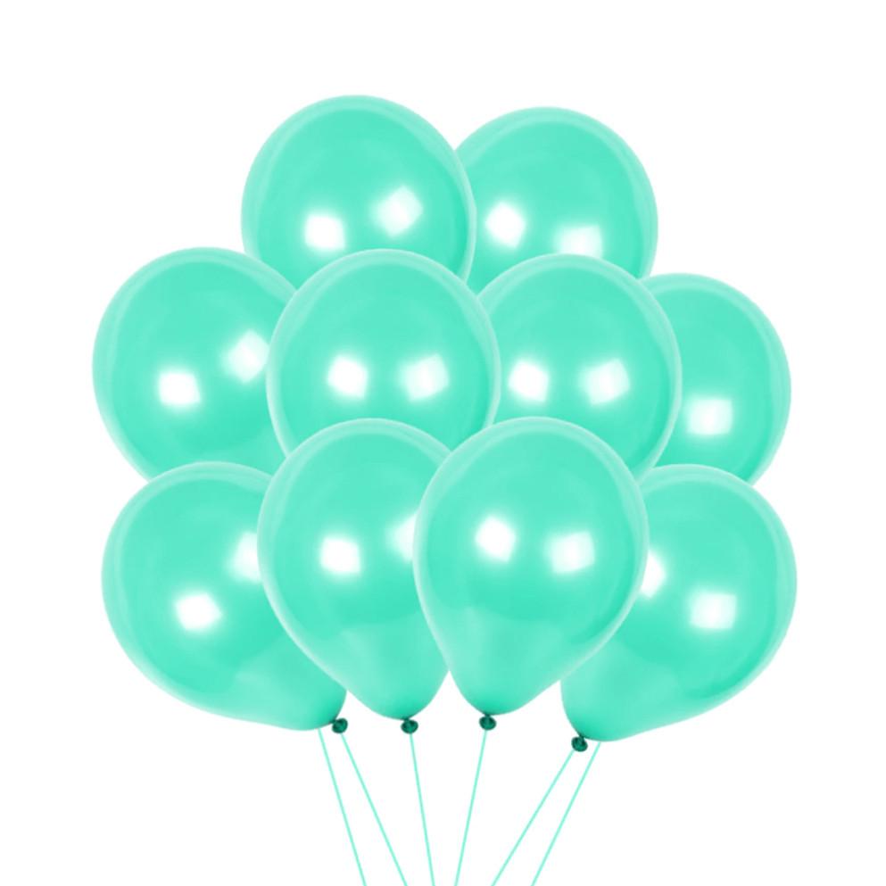 Воздушные шары латексные шар инсайдер 12 дюймов 100 шт/упаковка YuHang бирюзовый - фото 1