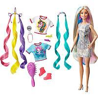 Barbie Радужные волосы превращение в Единорога и Русалку GHN04