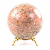 Шар камень розовый мрамор 8 см