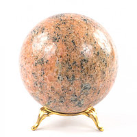 Шар 8,5 см из натурального розового мрамора