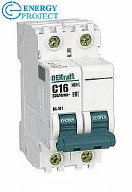 Автоматический выключатель ВА 101 2П 6А(72) Dekraft