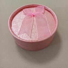 Футляр круглый, розовый