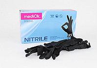Перчатки нитриловые MediOk смотровые неопудренные, размер L, уп 100 шт черные