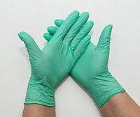 Перчатки нитриловые неопудренные, ЗЕЛЕНЫЕ (МЯТНЫЕ), размер M, UNEX, упаковка 50 пар