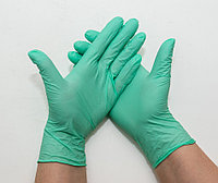Перчатки нитриловые неопудренные, ЗЕЛЕНЫЕ (МЯТНЫЕ), размер L, UNEX, упаковка 50 пар