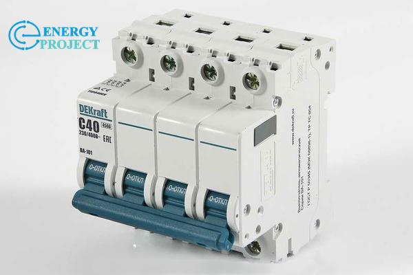 Автоматический выключатель ВА 101 4П 40А(36) Dekraft