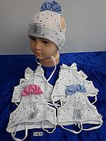 Шапочка летняя для новорождённой девочки. Фирма Magrof