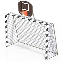 Ворота с баскетбольным щитом без сетки