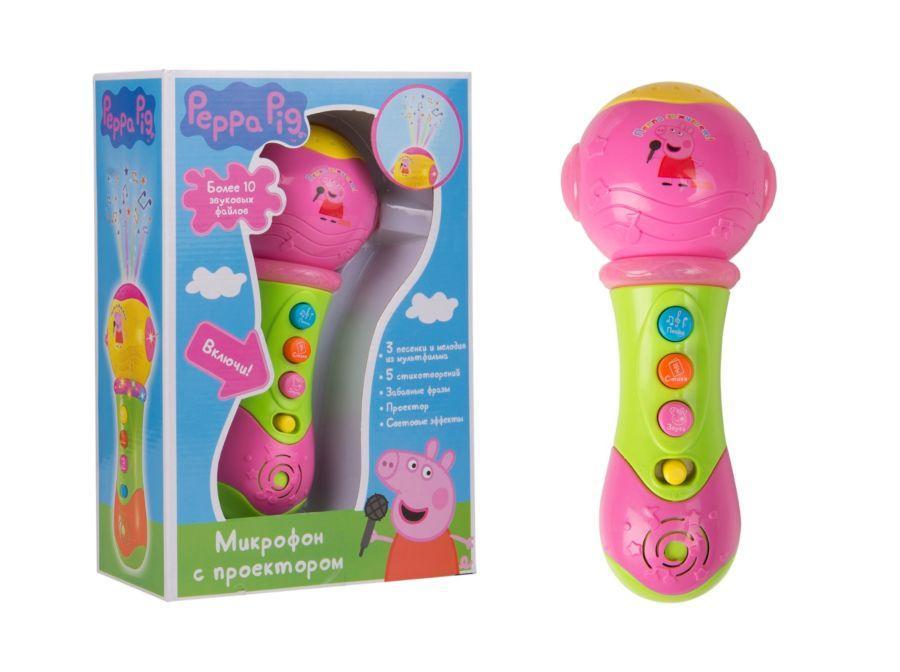 Свинка Пеппа. Музыкальный микрофон с проектором. ТМ Peppa Pig