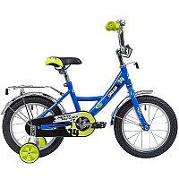 """Велосипед NOVATRACK 14"""", URBAN, синий, полная защита цепи, тормоз нож., крылья и багажник хром"""