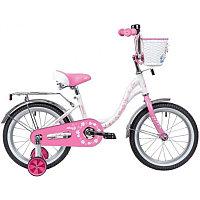 """Велосипед NOVATRACK 18"""", URBAN, белый, защита А-тип, тормоз нож., крылья и багажник хром.,"""