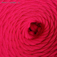 Пряжа трикотажная широкая 50м/160гр, ширина нити 7-9 мм (140 фуксия)