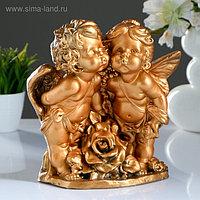 "Фигура ""Ангел и Фея с розой"" бронза 24х12х26см"
