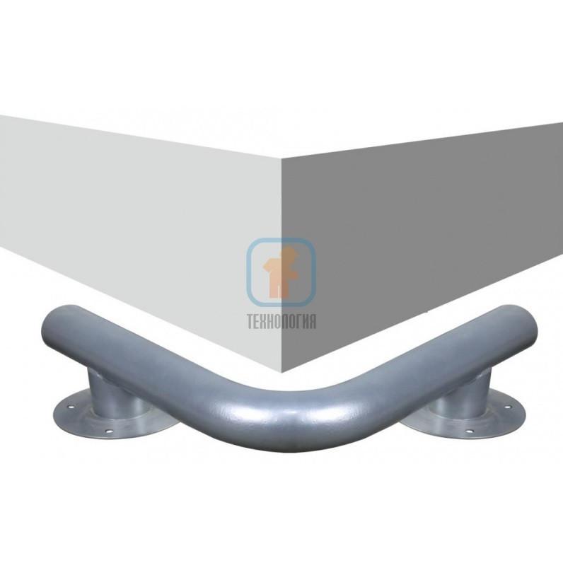 Колесоотбойник металлический угловой на ножках КМ-500/76х3