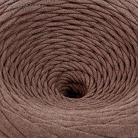 Пряжа трикотажная широкая 100м/320±15гр, ширина нити 7-9 мм (бежев. меланж)