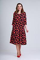 Женское летнее большого размера платье Rishelie 780 48р.