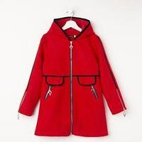 Пальто для девочки, цвет красный, рост 152 см