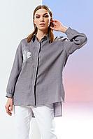 Женская летняя льняная блуза Prestige 4160 лиловый 42р.