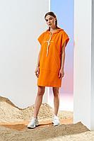 Женское летнее трикотажное оранжевое спортивное платье Prestige 4118 оранжевый 42р.