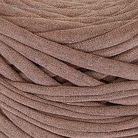Пряжа трикотажная широкая 50м/160гр, ширина нити 7-9 мм (меланж латте)
