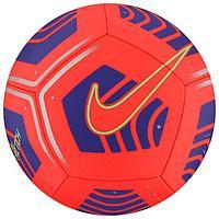 Мяч футбольный NIKE Pitch, размер 4, 12 панелей, ТПУ, машинная сшивка, бутиловая камера, цвет красный/синий