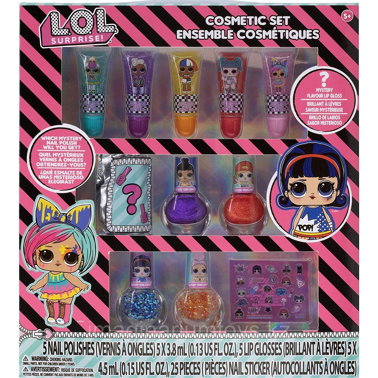 Детская косметика LOL Surprise Лак для ногтей, блеск для губ Townley США
