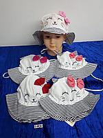 Панамка с завязками для девочки. Фирма Magrof