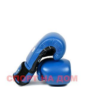Бокс перчатки Velo AIBA (кожа-синий) 14 OZ, фото 2