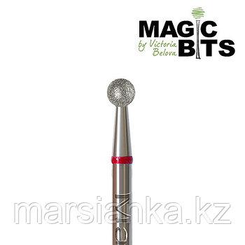Бор алмазный шар красный 027мм, Magic Bits