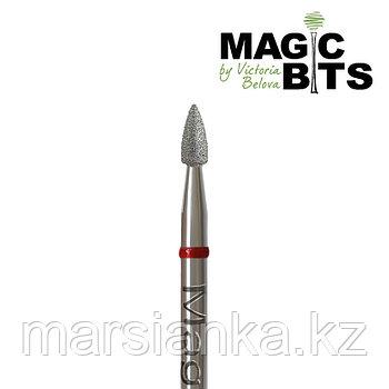 Бор алмазный пуля красная 024мм, Magic Bits