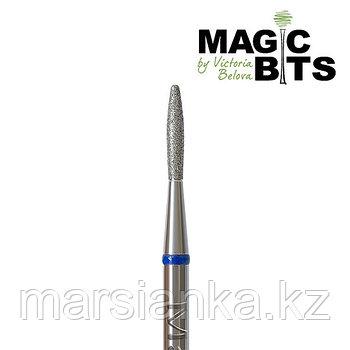 Бор алмазный пламя синяя с тупым концом 018мм, Magic Bits