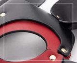 Кожаная черно-красная маска Мышки, фото 2