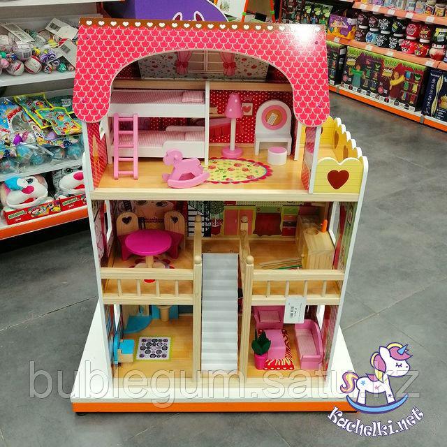 Кукольный дом Edufun с мебелью 90 см EF4109