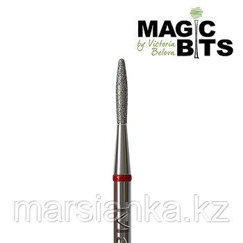 Бор алмазный пламя красная с тупым концом 018мм, Magic Bits