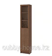 BILLY БИЛЛИ / OXBERG ОКСБЕРГ Стеллаж/панельная/стеклянная дверь, дубовый шпон 40x30x202 см, фото 2