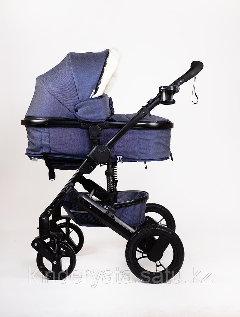 Детская коляска 2в1 Aimi 608к мех (синяя, красная, бежевая, серая)