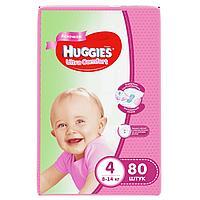 Подгузники Huggies Ultra Comfort 4 (8-14kg) 80 шт. для девочек