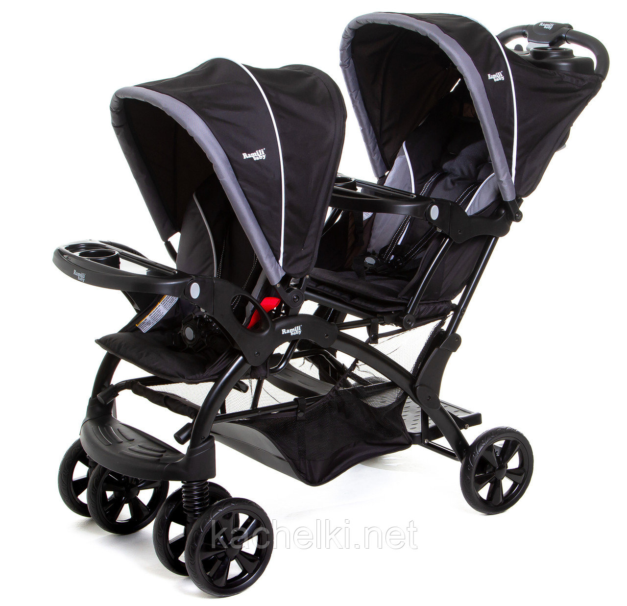 Детская коляска для двойни Ramili Baby Twin ST