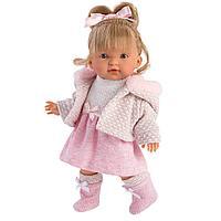 Кукла Валерия 28 см, блондинка в розовом костюме (LLORENS, Испания)