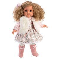 Кукла Елена 35 см, блондинка в меховом жилете (LLORENS, Испания)