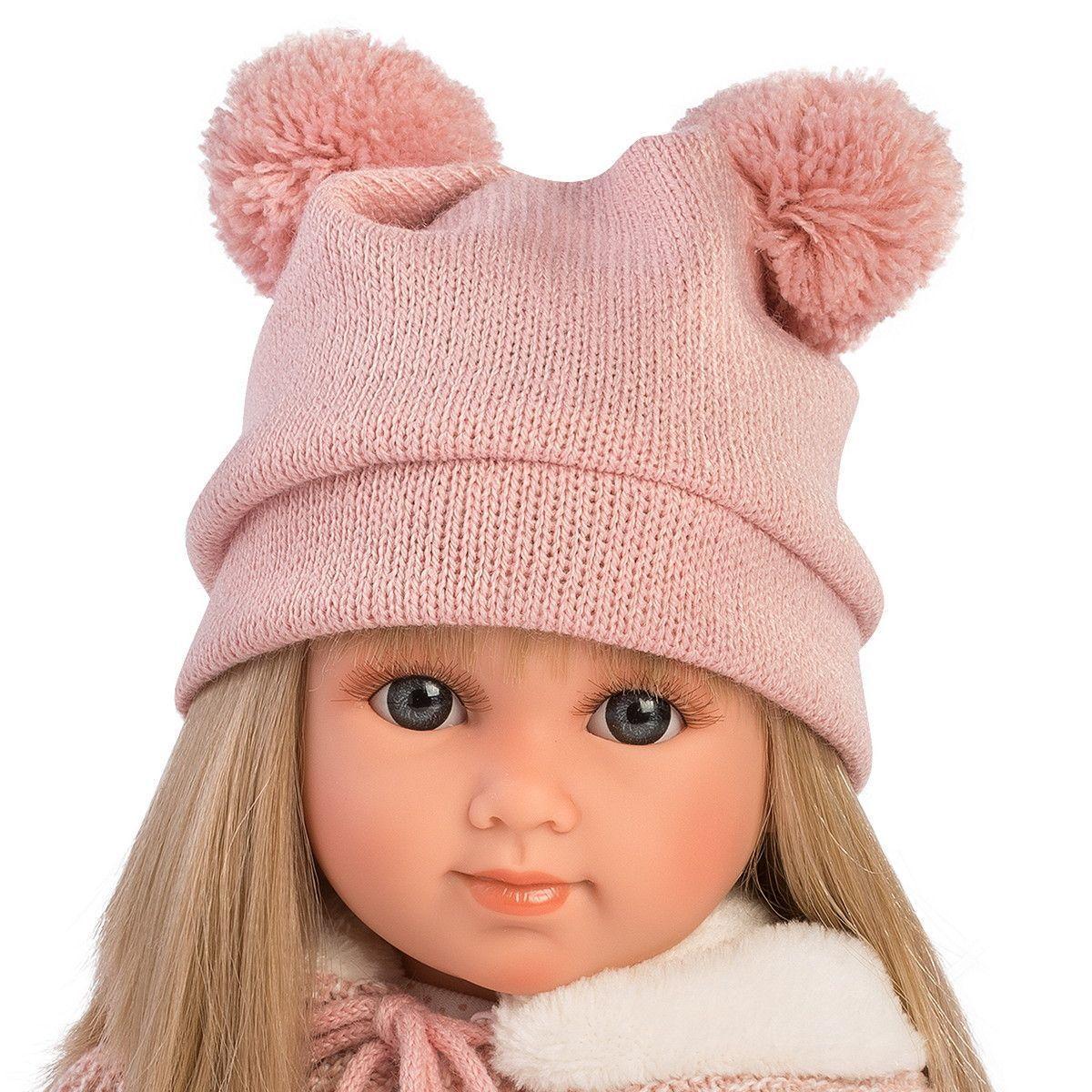 Кукла Елена 35 см, блондинка в розовом костюме (LLORENS, Испания) - фото 4